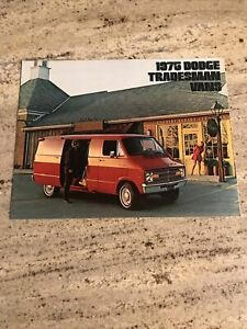 1975 Dodge Tradesman Van : dodge, tradesman, Dodge, Tradesman, Sales, Brochure, Deluxe, B100-300, Models, Pages, Illus.