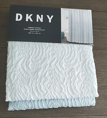 dkny cloud ombre microsculpt from white to blue shower curtain 72 x 72 ebay