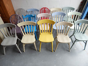 kitchen dining chairs cabinets cost mix match painted vintage farmhouse ebay image is loading amp