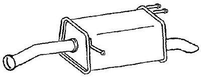 Klarius (KA38D) Exhaust Rear Back Box For Kia Picanto (BA