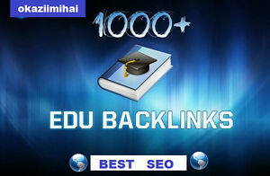 1000+ EDU Backlinks to your Website ! SEO , Full Report .SPECIAL OFFER !