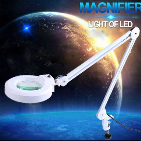 LED Floor Lamp with Magnifying Glass