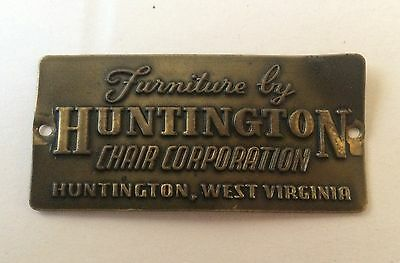 huntington chair corporation burlesque dance moves antique furniture metal tags collection on ebay brass name plate tag vtg west virginia
