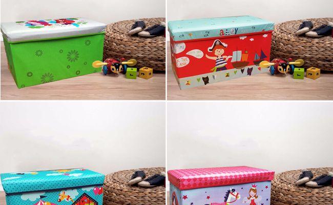 Large Kids Childrens Large Storage Toy Box Boys Girls