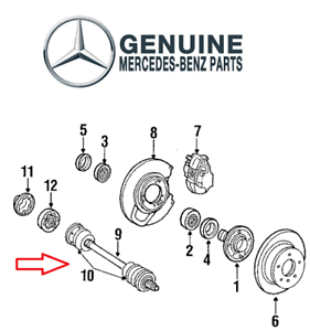 For Mercedes W126 300SE 350SD 300SEL Rear Repair Kit Gear