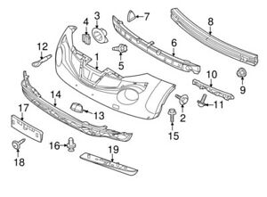 62090-1KM0A Nissan Absorber-energy, front bumper