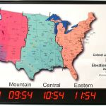 5 Zone Digital Led Time Zone Clock With Us Map Tzmap For Sale Online