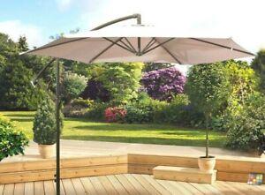details about pagoda 3m over hanging parasol cantilever banana parasol 6 ribs garden shade