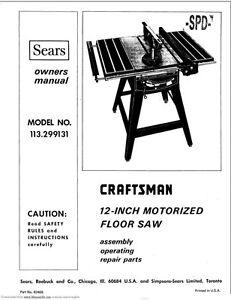 1973 Craftsman 113.299131 12