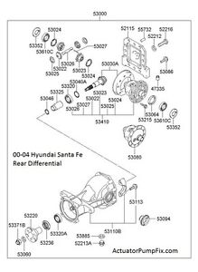 Differential BEARINGS & SEALS KIT, Rear Axle Diff Bearing