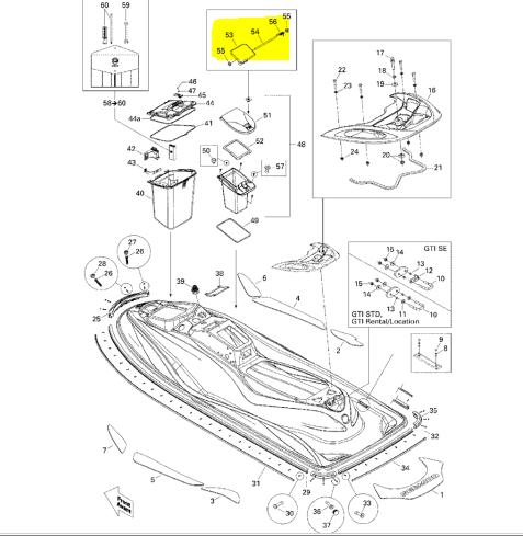 Sea-Doo New OEM Latch-Glove Box 269500553 GTI GTS GTX LRV
