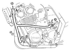 Yamaha FZS 600 Fazer Engine Guard Black BY HEPCO AND