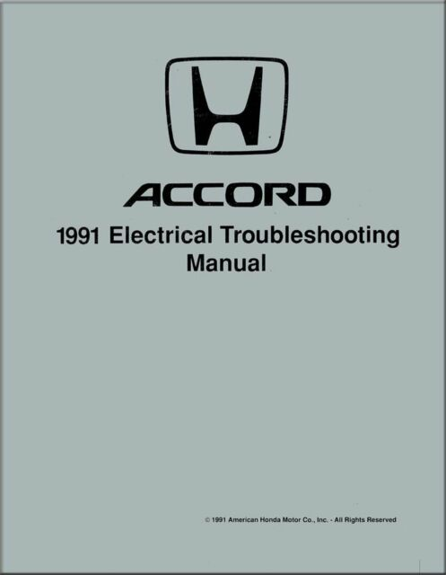 OEM Repair Maintenance Shop Manual Honda Accord Electrical