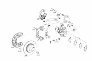 Original Mercedes Benz Bremsenset C 63 AMG Hinterachse