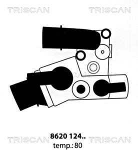 TRISCAN Engine Thermostat For FIAT Palio Weekend Punto Van