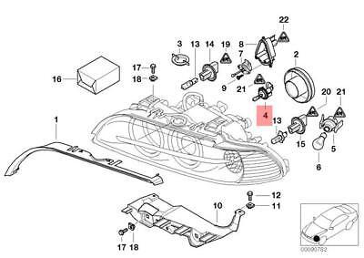 Genuine BMW E39 E63 E64 Bulb Socket With Bulb F Parking