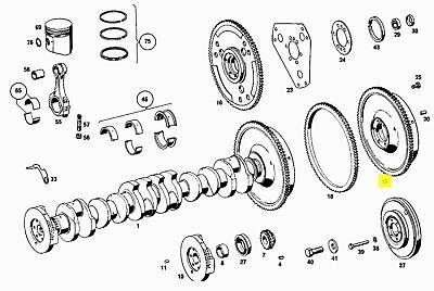 Mercedes Flywheel for Manual Transmission New OEM M108