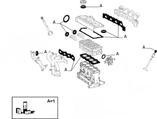 FIAT PUNTO Mk2 Mk3 1.8 16v HGT Genuine Cylinder Head