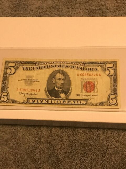 Five Dollar Bill With Red Ink : dollar, Label, Dollar, Labels, Database