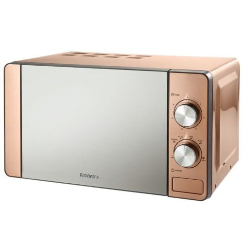 microwaves goodmans copper microwave 6 heat settings stylish mirror finish door 20l home furniture diy itkart org