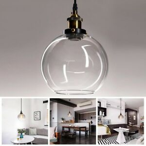 Image Is Loading Vintage Glass Ceiling Pendant Chandelier Light Round