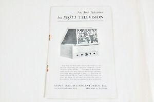 Original SCOTT Television Sales Catalog Product Brochure