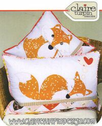 Foxies - Applique Sewing Craft PATTERN - Cushion Shabby ...