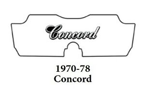 1970 1978 AMC Concord Trunk Rubber Floor Mat Cover with A