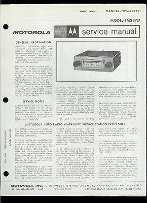 Rare Original Factory 1967 Motorola TM297M Auto Radio
