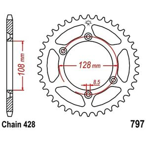 Rear Sprocket 57 Tooth Pitch 428 For Suzuki DR Z 125 L