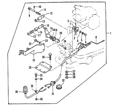 GENUINE MERCURY MARINER 2 STROKE 4HP 5HP REMOTE CONTROL