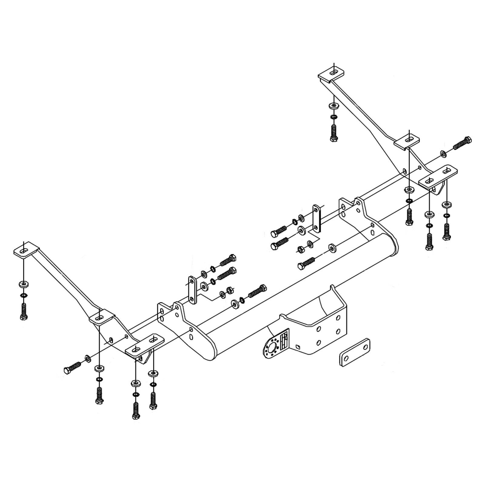 hight resolution of details about towbar for vauxhall movano van rwd 2010 on flange tow bar