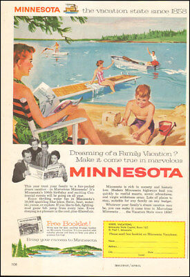 1958 Vintage Ad For Minnesota Art Tourism Vacations Boat Retro 090317 Ebay