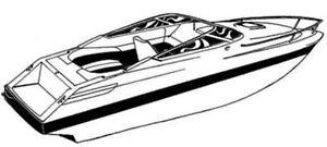 7oz BOAT COVER SEA RAY 240 OVERNIGHTER W/ EXTD SWPF 1992
