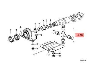 Genuine BMW 02 E12 E24 Repair Kit Driveshaft U Joint