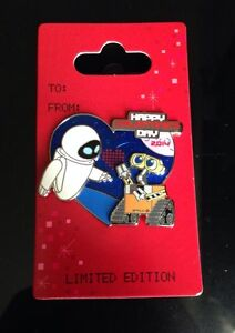 Disneyland Wall E And Eve Valentines Day Pin 2014 Limited