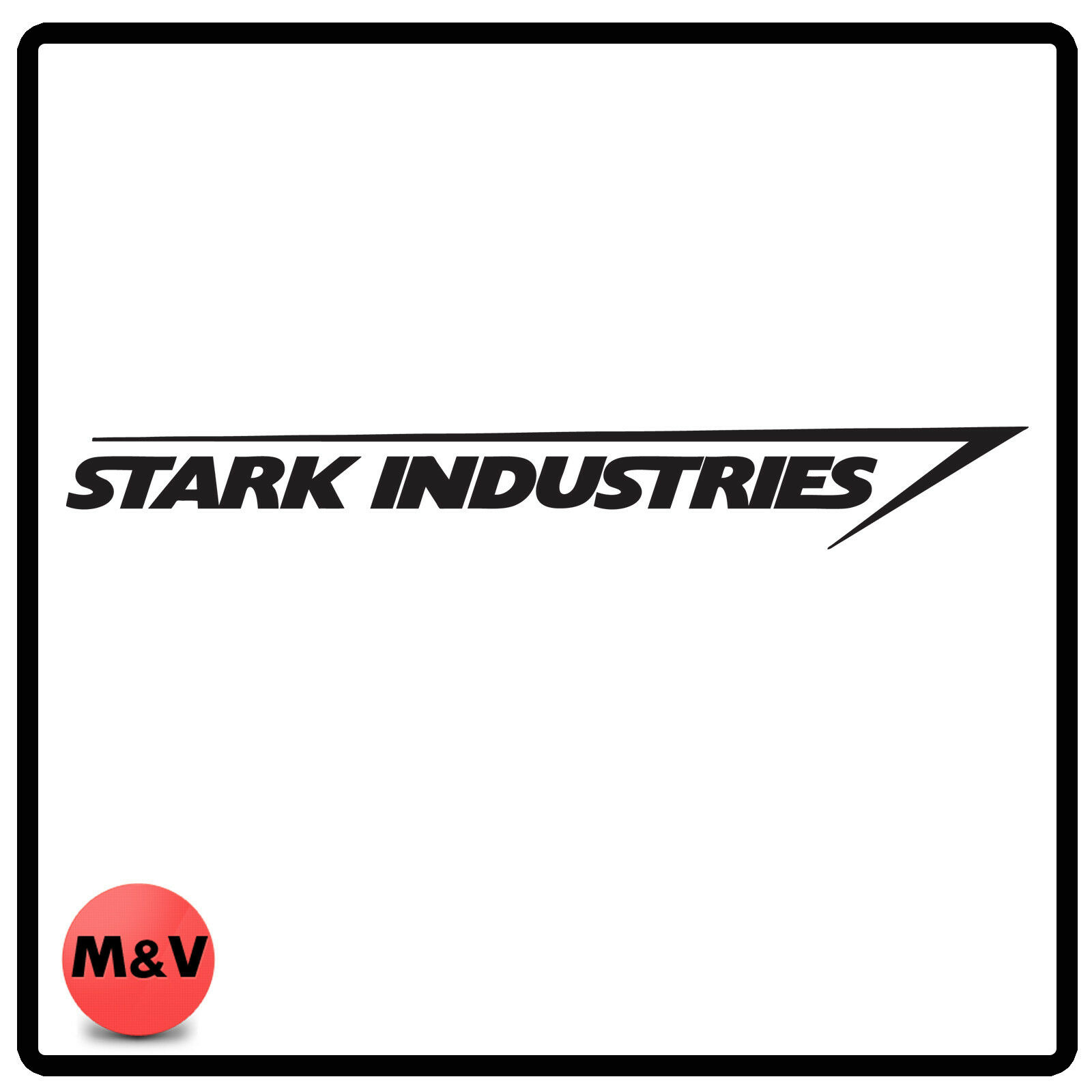 Stark Industries sticker for laptop, xbox, playstation