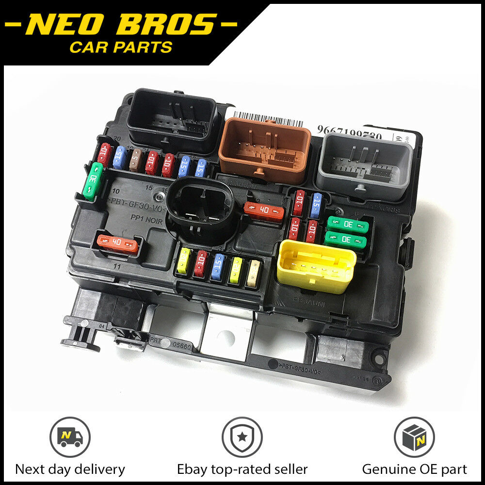 medium resolution of genuine engine bay fuse box bsm for citroen c3 picasso peugeot 207 6500hw
