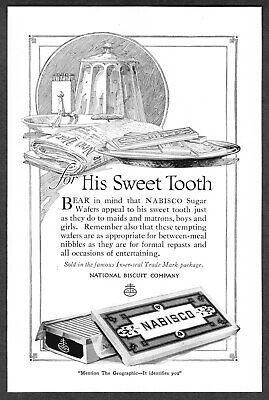 1920 Nabisco Wafers Bar & Box art