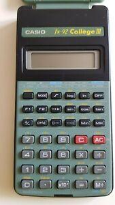 Calculatrice Casio Fx-92 : calculatrice, casio, fx-92, Vintage, Calculator, Casio, Scientific, College, French, Version