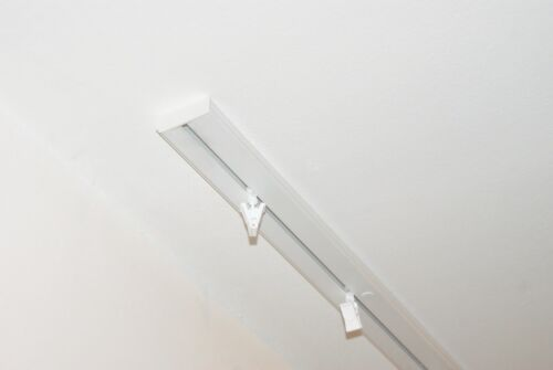 double rail 2 pcs single ends of ceiling curtain track