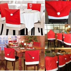 Chair Covers New Year Yellow Adirondack Chairs Plastic 20pcs Santa Claus Caps S Goods Spilled Party Red Hat