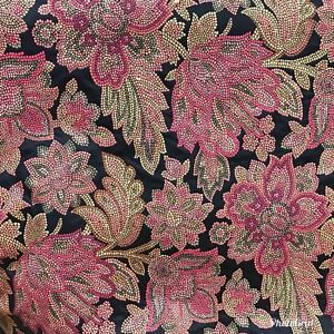 brocade sofa fabric outdoor slipcover swatch designer jacquard black floral damask image is loading