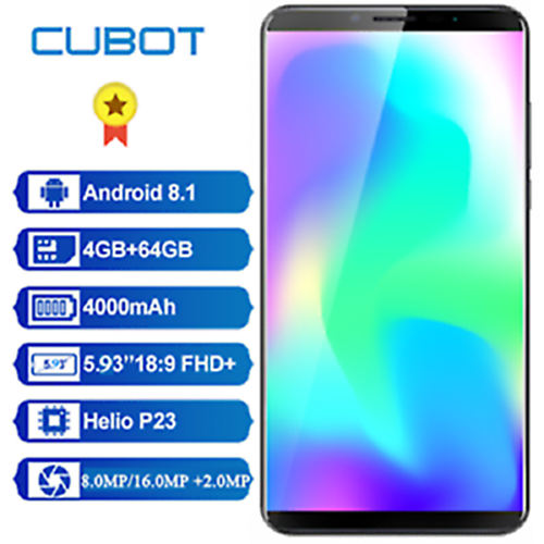 CUBOT-X19-4G-Phablet-5-93-039-039-smartphone-OctaCore-cellulare-Android-8-1-4GB-64GB