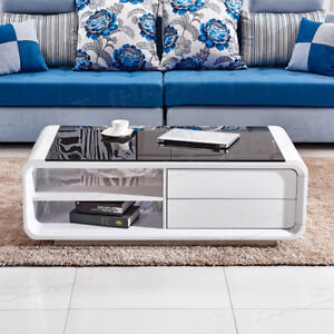black glass living room furniture small decorating ideas photos modern white high gloss coffee table tempered image is loading