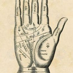 Vintage Diagram 1994 Chevy Truck Wiring Palmistry Palm By Reproduction Tarot Reading Print Image Is Loading