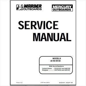Mercury / Mariner 40 50 55 60 4-Stroke Outboard Motor
