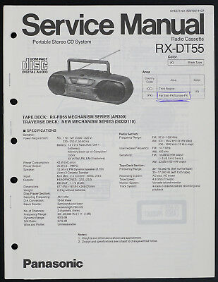 Panasonic RX-DT55 Original Portable Stereo CD System