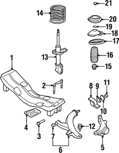 OEM NEW 1996-1999 Genuine Subaru Legacy Engine Cradle