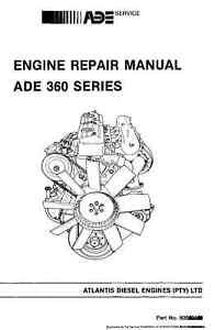 ADE 364 366 ENGINE OVERHAUL REPAIR WORKSHOP MANUAL ADE 360